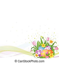 Beautiful Easter eggs background - Abstract Easter...