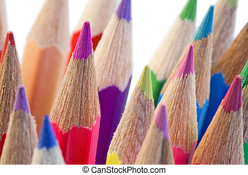 The high part of color pencils