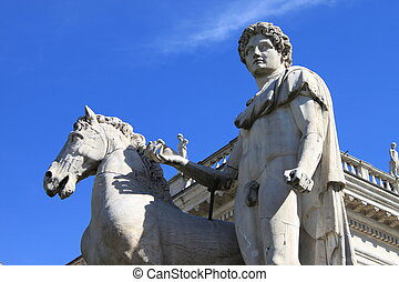 The hero and his horse - A detail of the statue of Castor...