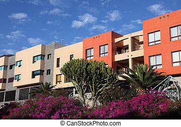 Modern residential buildings in southern Spain