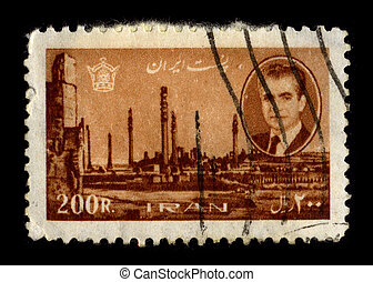 Postage stamp. - IRAN-CIRCA 1960:A stamp printed in IRAN...