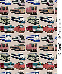 seamless train pattern  - seamless train pattern