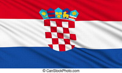 Croatian flag, with real structure of a fabric