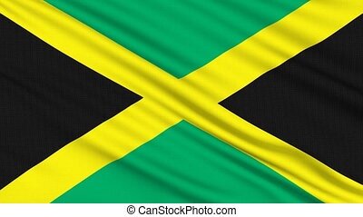 Jamaican flag, with real structure of a fabric