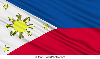 Philippines flag, with real structure of a fabric