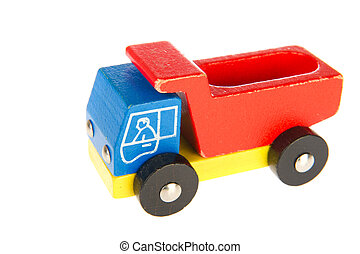 old wooden toy truck