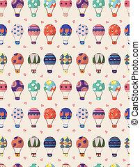 seamless Hot air balloon pattern - seamless Hot air balloon...
