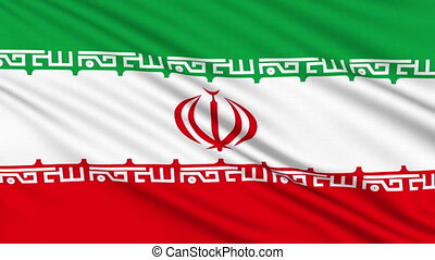 Iran flag, with real structure of a fabric