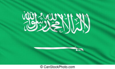 Saudi Arabia flag, with real structure of a fabric