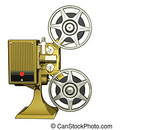 Projector film - Render of projector film  isolated