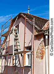 Old house being renovated