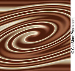 mixed chocolate swirl