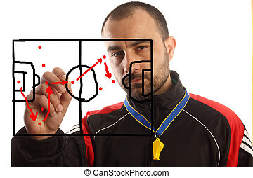 soccer tactical plan - soccer manager drawing a tactical...