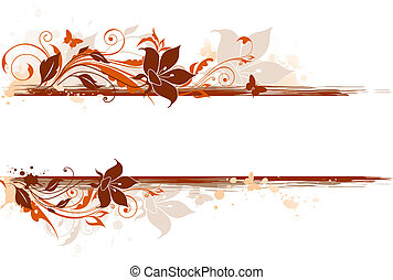 floral background with tulip and ornament