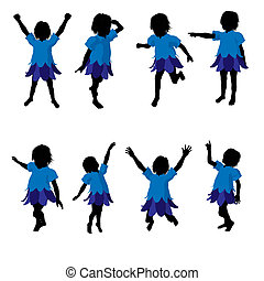 Boy Fairy Silhouette Illustration - Boy fairy illustration...