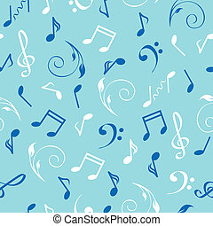 vector illustration of a seamless abstract musical background.