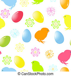vector illustration of a seamless easter background