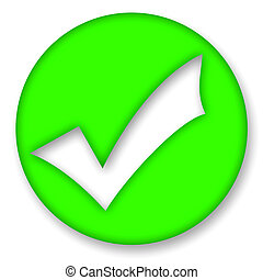 Check mark - Green check mark symbol over white background