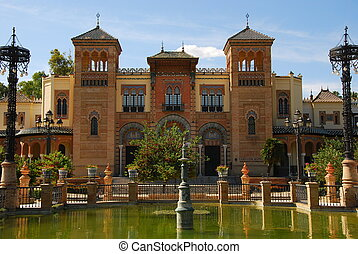 Monuments of Seville - Mudejar Museum Seville Spain,...