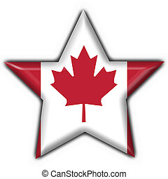 canada button flag star shape - 3d made