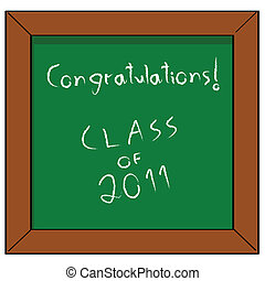 Congratulations Class of 2011 - Cartoon illustration of a...