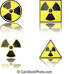 Radioactive - Glossy illustration of the radioactivity...