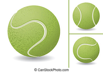 Tennis Ball set - Tennis ball isolated over white...