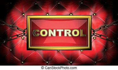 control on velvet background