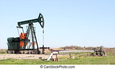 oilfield with pump jack