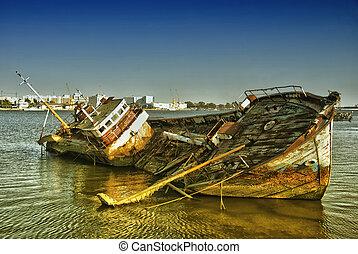 Cielna, Historyczny, hiszpański, statek, wrak
