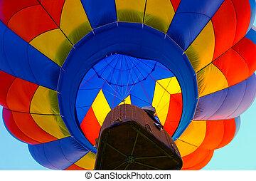hot air balloon - colorful hot air balloon