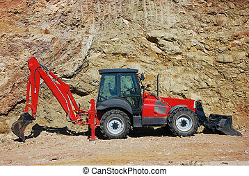Construction equipment - modern red machinery