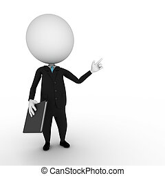 business guy - a 3d rendered illustration of a small guy in...