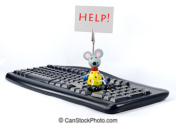 help - A humourous request for help, perhaps with using a PC...
