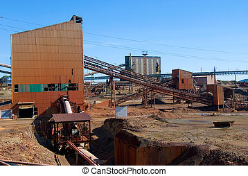 Abandoned mine workshops in Spain. (The Riotinto mine)