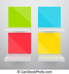 3d isolated Empty colorful