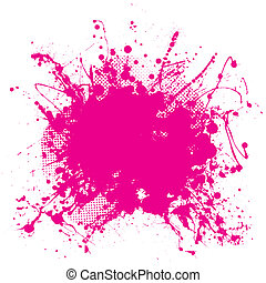 Pink grunge splat - Abstract pink grunge background with...
