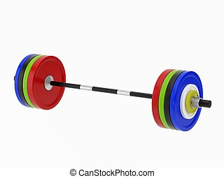 Barbell isolated on a white background