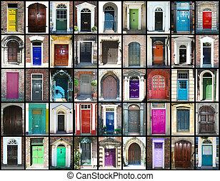 Doors - Different multi colored doors