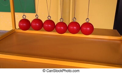 Balls on strings