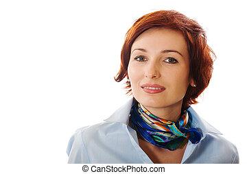beautiful woman - A beautiful woman on a white background...
