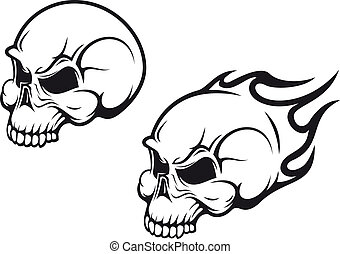 Skulls tattoo - Danger skulls as a tattoo or evil concept