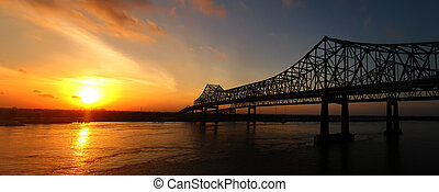 New Orleans Sunrise - The Crescent City Connection formerly...
