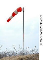 windsock blowing in wind