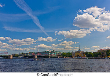 Sankt-Peterburg. City center in a sunny summer day