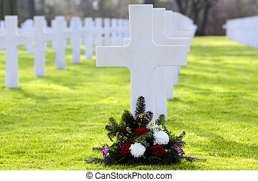 cross - a cross with no name,in a cimetery of the second...