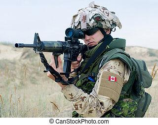 canadense, soldado