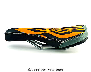 bicycle saddle - an isolated image of the striped bike...