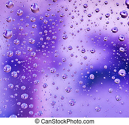 Abstract translucent water drops background, macro view