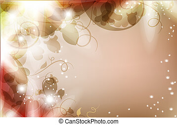 Magic flower background - Luminous background with flowers...